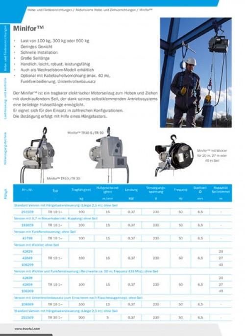 TIRAK-Durchlaufwinden+Hydraulischer Seilzug